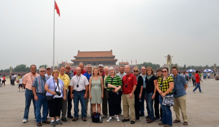 Iowa farmers visit Tiananmen Square in Beijing, China
