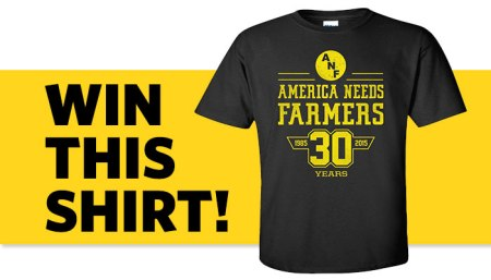 Win this ANF (America Needs Farmers) Iowa Hawkeyes t-shirt!